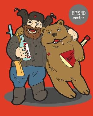 Партизан с медведем