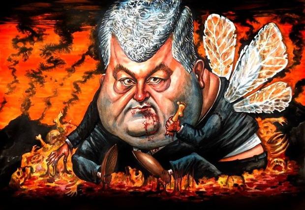 Петр Порошенко, карикатура