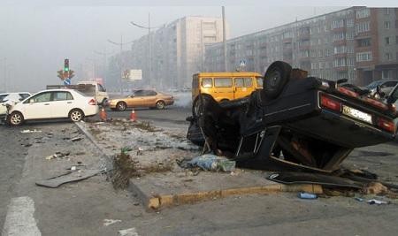 Авария на перекрёстке Советская - Некрасова