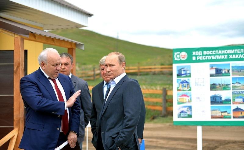 Виктор Зимин и Владимир Путин. Фото с сайта ksonline.ru