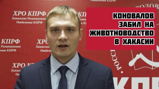 Коновалов забил на животноводство в Хакасии